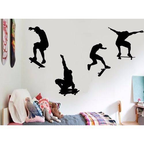 Adesivo Parede Infantil Skate Sk8 Esporte