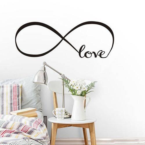 Adesivo Parede Quarto Amor Love Vida Infinito