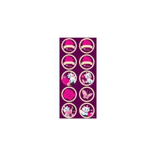 Adesivo Redondo Marie Lilás C/3 Cartelas