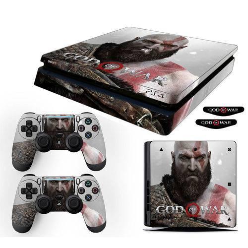 Adesivo Skin Playstation 4 Slim Kratos God Of War 4