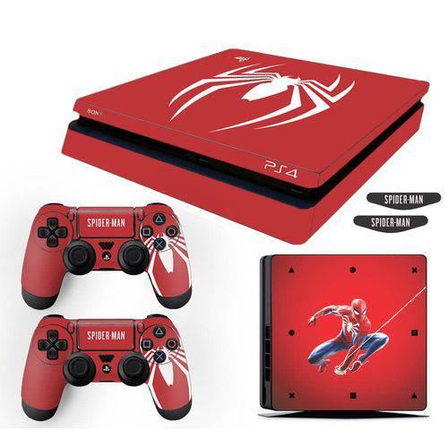 Adesivo Skin Playstation 4 Slim Spider Man Edição Limitada