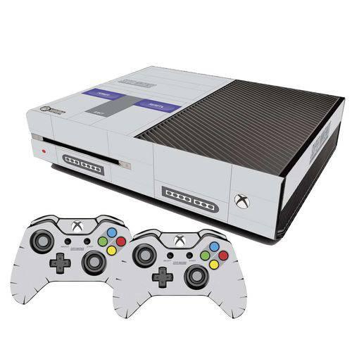 Adesivo Skin Xbox One Fat Super Nintendo Edition