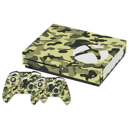 Adesivo Skin Xbox One S Camuflado Exércido Verde