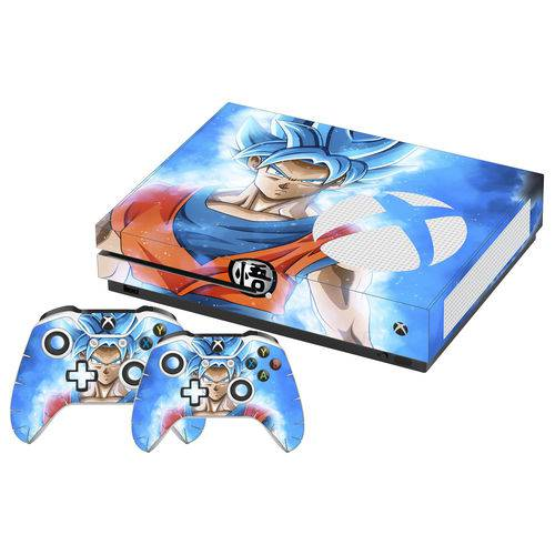 Adesivo Skin Xbox One S Goku Super Sayajin Blue