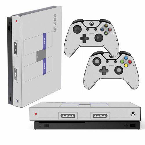 Adesivo Skin Xbox One X Super Nintendo Edition