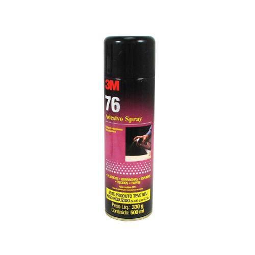 Adesivo Spray 76 Cola Plástico Borracha Espuma Tecidos e Papéis - 3m