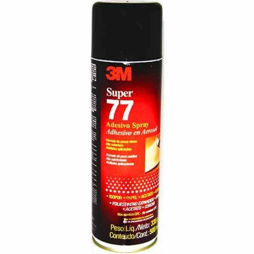 Adesivo Spray Super 77 Isopor Papel Acetato Cortiça