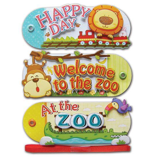 Adesivo Tags Zoologico AD1033 Toke e Crie