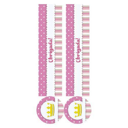 Adesivo Tubete Coroa Rosa C/10 - Kid Art