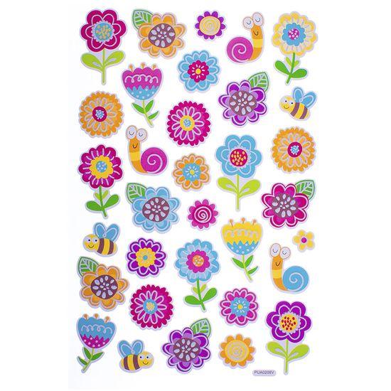 Adesivos Alegres Toke e Crie Ad1871 Flores