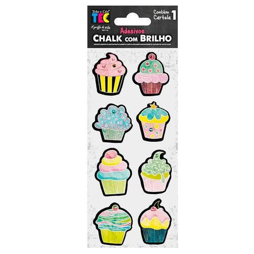 Adesivos Chalk com Brilho Toke e Crie Cupcake - 17600 - Ad1719