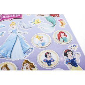 Adesivos 3D 14 X 21 Cm Princesas Ref.19584-ADD08 Toke e Crie