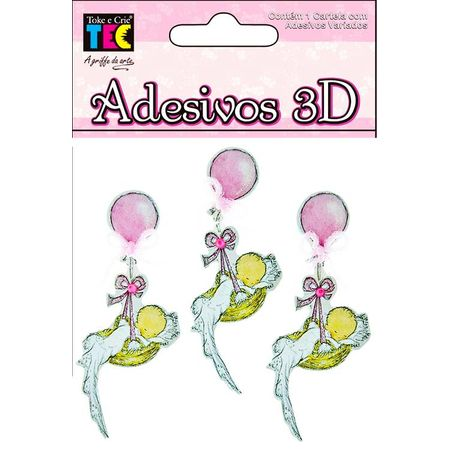 Adesivos 3D Toke e Crie 7 X 7 Cm Bebê