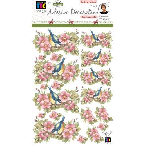 Adesivos Decorativos Toke e Crie Flores e Pássaros By Mamiko - 21045 - Tdm26