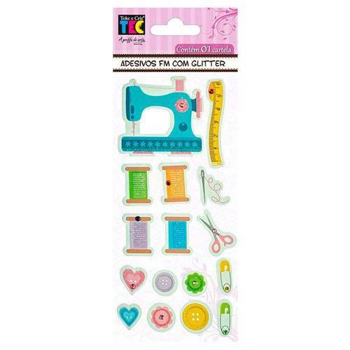 Adesivos Feito à Mão com Glitter Toke e Crie Costura - 17593 - Ad1712
