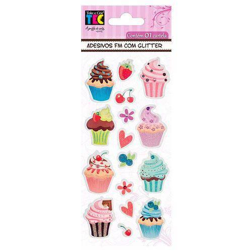 Adesivos Feito à Mão com Glitter Toke e Crie Cupcakes - 17584 - Ad1703