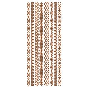 Adesivos Foil II Rose Faixas Ref.20691-AD1900 Toke e Crie