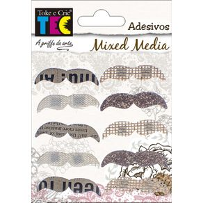 Adesivos Mixed Media Mustache Ref.16976-AV017 Toke e Crie