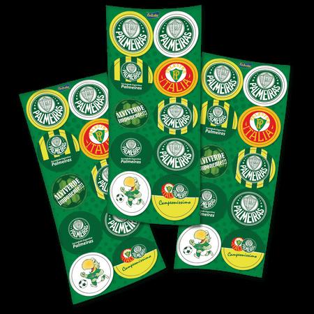 Adesivos Palmeiras - 30 Unidades - Festcolor