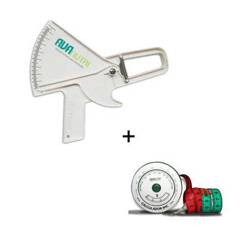 Adipômetro / Plicômetro Clínico Avanutri Branco + Trena Antropométrica