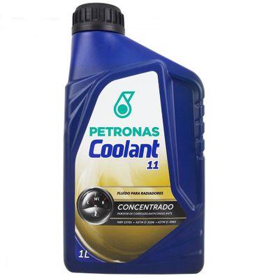 Aditivo para Água do Radiador Concentrado Inorgânico Petronas Coolant 11 Coloração Verde 1L