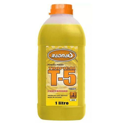 Aditivo para Radiador Amarelo Concentrado Radnaq 1 Litro Tropical T-5