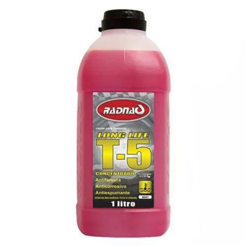 Aditivo para Radiador Rosa Concentrado Radnaq 1 Litro T-5 - Long Life