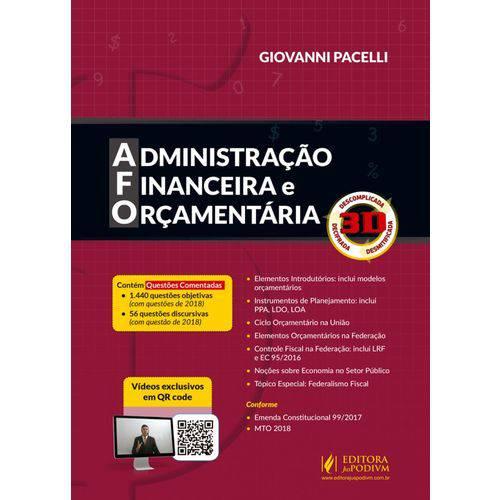 Administração Financeira e Orçamentária 3D (2018)
