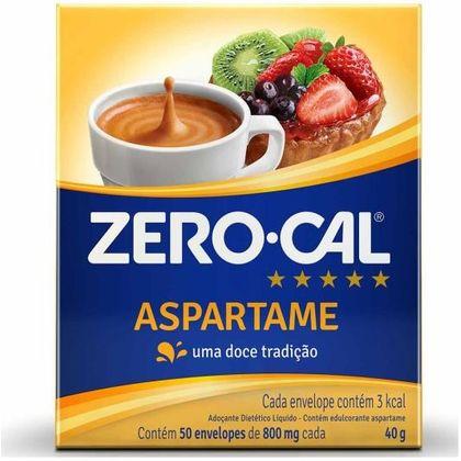 Adoçante em Pó Aspartame 40g Zero Cal Zero Cal