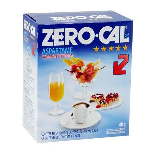 Adoçante em Pó com 50 Envelopes Aspartame Zero Cal