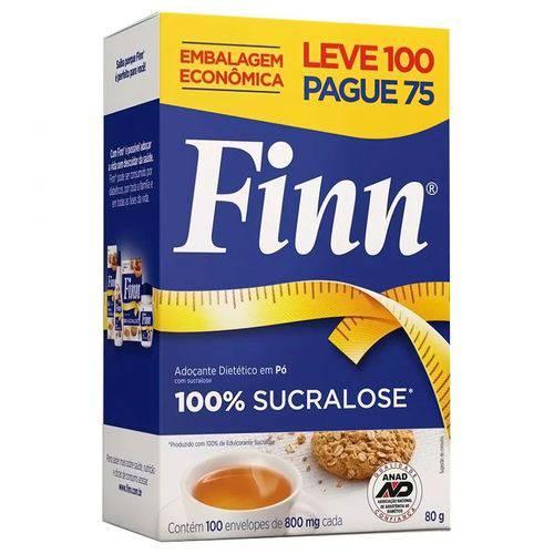 Adoçante em Pó Finn 100% Sucralose C/ 100 Envelopes