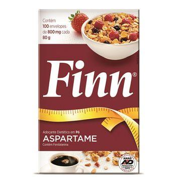 Adoçante Finn Aspartame Pó - 100 Envelopes