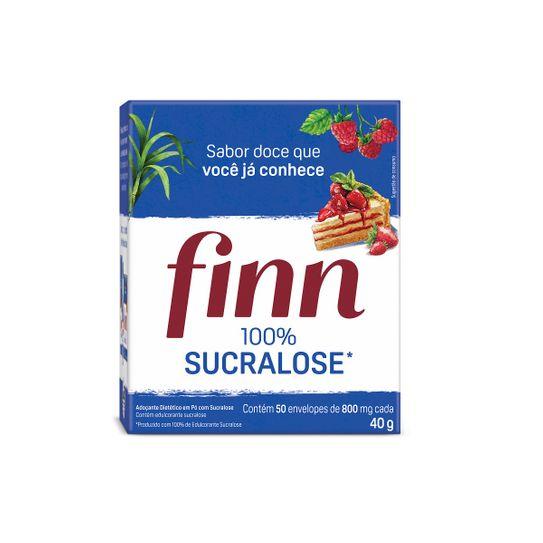 Adoçante Finn Sucralose com 50 Envelopes de 0,8g