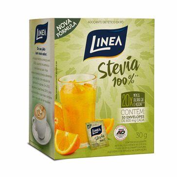 Adoçante Linea Stevia com 50 Envelopes