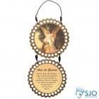 Adorno de Porta Redondo - Anjo da Guarda - Mod 03 | SJO Artigos Religiosos