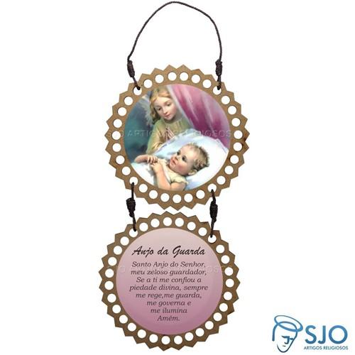 Adorno de Porta Redondo - Anjo da Guarda - Mod 04 | SJO Artigos Religiosos