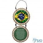 Adorno de Porta Redondo - Bandeira do Brasil | SJO Artigos Religiosos