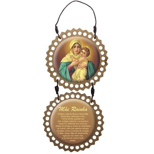 Adorno de Porta Redondo - Mãe Rainha | SJO Artigos Religiosos