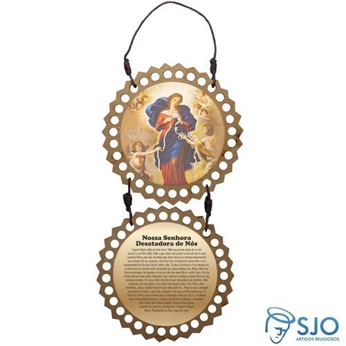Adorno de Porta Redondo - Nossa Senhora Desatadora dos Nós | SJO Artigos Religiosos