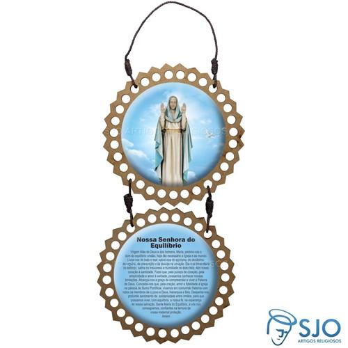 Adorno de Porta Redondo - Nossa Senhora do Equilíbrio   SJO Artigos Religiosos
