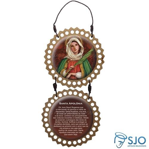 Adorno de Porta Redondo - Santa Apolônia | SJO Artigos Religiosos