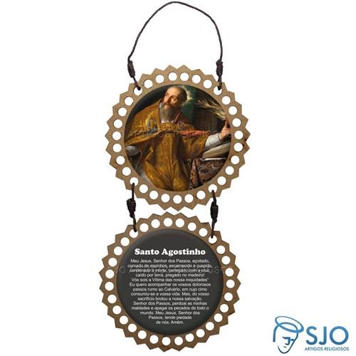 Adorno de Porta Redondo - Santo Agostinho | SJO Artigos Religiosos