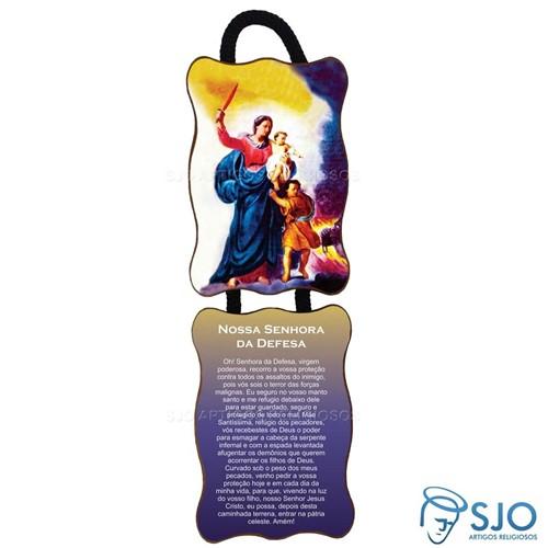 Adorno de Porta Retangular - Nossa Senhora da Defesa   SJO Artigos Religiosos