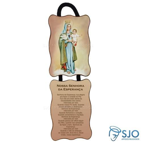 Adorno de Porta Retangular - Nossa Senhora da Esperança | SJO Artigos Religiosos