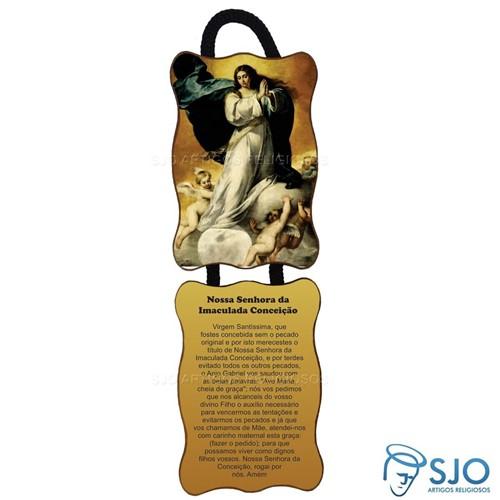 Adorno de Porta Retangular - Nossa Senhora da Imaculada Conceição - Mod 02 | SJO Artigos Religiosos