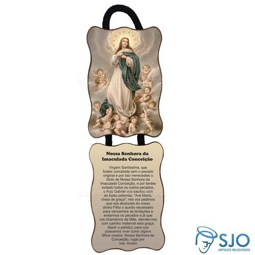 Adorno de Porta Retangular - Nossa Senhora da Imaculada Conceição - Mod 01 | SJO Artigos Religiosos