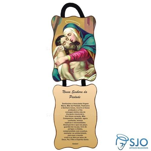 Adorno de Porta Retangular - Nossa Senhora da Piedade | SJO Artigos Religiosos