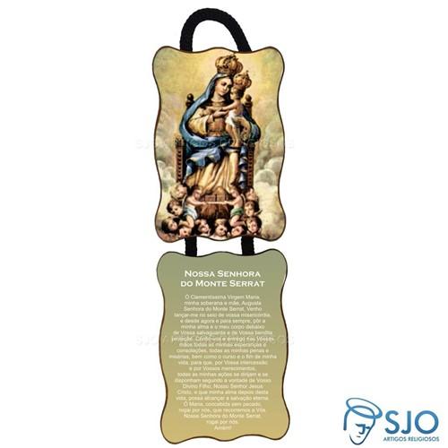 Adorno de Porta Retangular - Nossa Senhora de Monte Serrat | SJO Artigos Religiosos