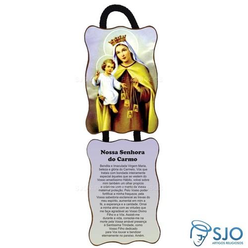 Adorno de Porta Retangular - Nossa Senhora do Carmo | SJO Artigos Religiosos