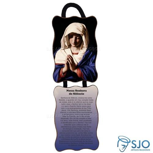 Adorno de Porta Retangular - Nossa Senhora do Silêncio | SJO Artigos Religiosos